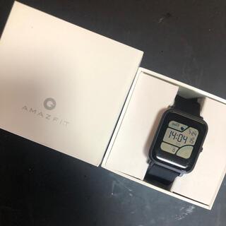 【Xiaomi】Amazfit Bip Black ★中古美品★(腕時計(デジタル))