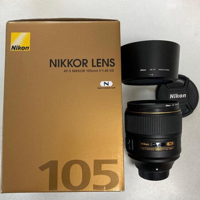 Nikon(ニコン)のNikon AF-S NIKKOR 105mm f1.4E ED Fマウント スマホ/家電/カメラのカメラ(レンズ(単焦点))の商品写真