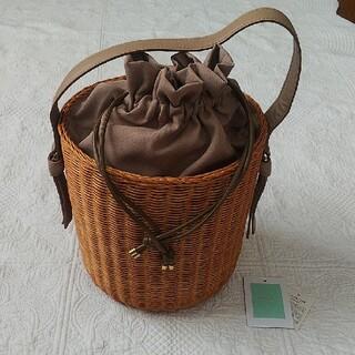 TOCCA - TOCCA かごバッグ 巾着 キャメル ラタン