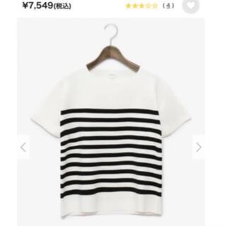 プラステ(PLST)のPLST コットンポリガーター編みニット(Tシャツ(半袖/袖なし))