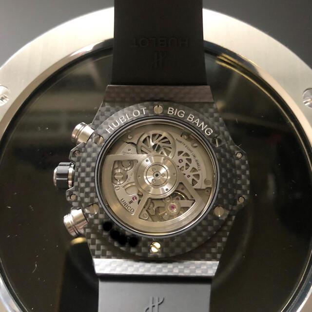 HUBLOT(ウブロ)のウブロ ビッグバン ウニコ カーボン スケルトン文字盤 パワーリザーブ メンズの時計(腕時計(アナログ))の商品写真