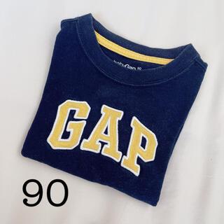 babyGAP - baby GAP ロゴ半袖Tシャツ 90size ネイビー