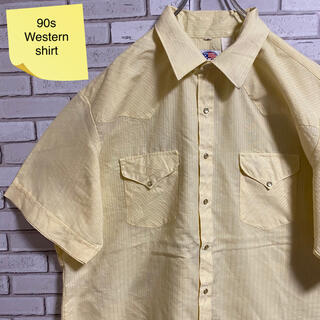 90s 古着 ヴィンテージ  ウエスタンシャツ USA製 ビッグシルエット(シャツ)