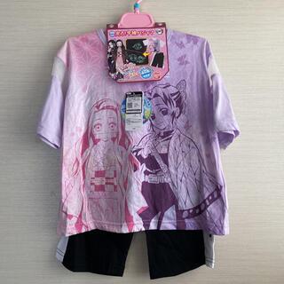 バンダイ(BANDAI)の女の子 半袖パジャマ 光るパジャマ 鬼滅の刃 120サイズ(パジャマ)