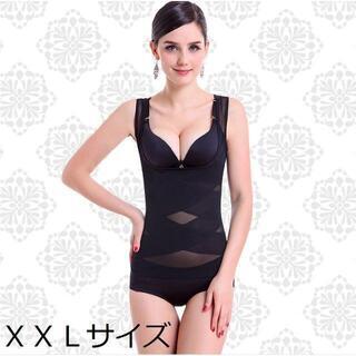 【ブラック/XXL】補正下着 着るだけで痩せれるらしい?(エクササイズ用品)