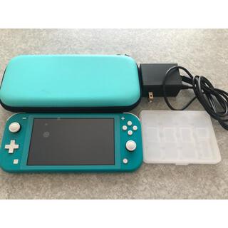 ニンテンドースイッチ(Nintendo Switch)の任天堂Switch Lite本体、充電器、ケース、ソフトケースセット(携帯用ゲーム機本体)