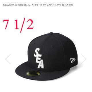 シー(SEA)のWIND AND SEA new era 7 1/2 Navy L(キャップ)