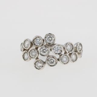 メレダイヤ デザインリング 13号 Pt900 【中古】(リング(指輪))