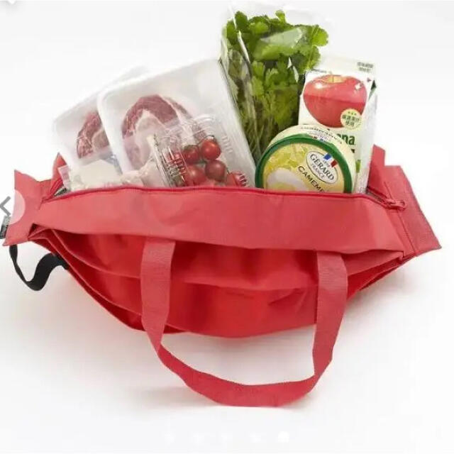 シュパット 一気にたためる保冷バッグ M  マーナ レディースのバッグ(エコバッグ)の商品写真