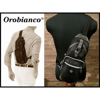 Orobianco - 美品 オロビアンコ アニバーレ 千鳥格子 シャドー チェック ボディ バッグ