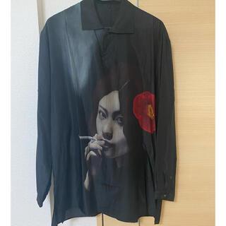 Yohji Yamamoto - yohji yamamoto 18ss 椿とタバコ シルクシャツ