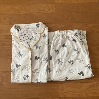 しまむら - ミッフィー総柄パジャマ・ルームウェア・miffy・ブルーナ・こうさぎ・Mサイズ