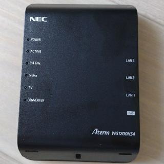 NEC - NEC wifiルーター Aterm WG1200HS4