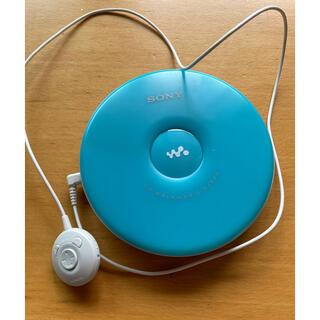ソニー(SONY)のSONY CDウォークマン EJ002 ブルー(ポータブルプレーヤー)