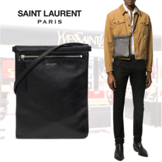 Saint Laurent - SAINT LAURENT サンローラン レザー クロスボディバッグ