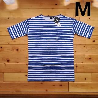 マリメッコ(marimekko)のMサイズ マリメッコ  marimekko  ユニクロ ボーダー ブルー 青(Tシャツ(半袖/袖なし))