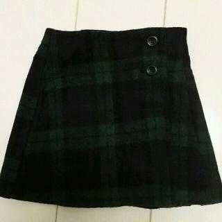 ブリーズ(BREEZE)のharui☆様専用 ラップチェックスカート&ニットポンチョ(スカート)