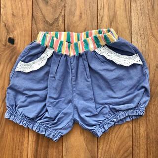 futafuta - futafuta かぼちゃパンツ ショートパンツ ネイビー 90 ブルー 女の子