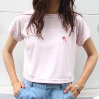 ジュエティ(jouetie)のjouetie  バラ刺繍ショート丈T(Tシャツ(半袖/袖なし))