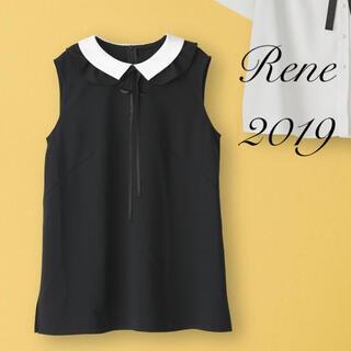 René - Rene♡ 2019年 DM掲載 フリル襟ボウタイリボンブラウス