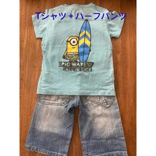 エフオーキッズ(F.O.KIDS)のミニオンTシャツ+foキッズハーフパンツ(パンツ/スパッツ)