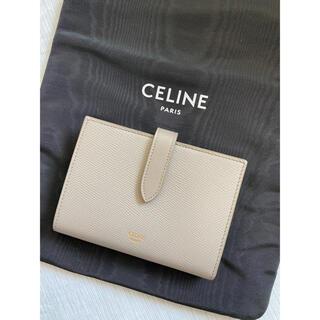 celine - セリーヌ CELINE  ミディアム ストラップウォレット ぺブル