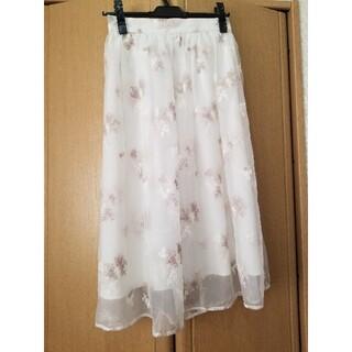 LAISSE PASSE - レッセパッセフラワー刺繍スカート