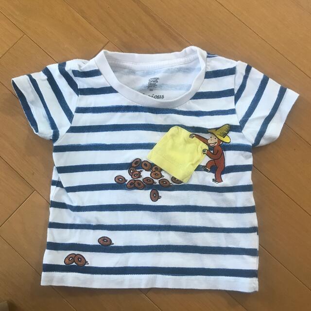 Design Tshirts Store graniph(グラニフ)の【26様】おさるのジョージ Tシャツ キッズ/ベビー/マタニティのキッズ服女の子用(90cm~)(Tシャツ/カットソー)の商品写真