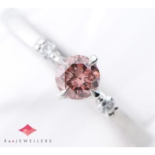 FANCY DEEP ORANGY PINK  ダイヤモンド 0.318 リン