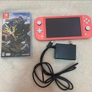 ニンテンドースイッチ(Nintendo Switch)のNintendo Switch lite モンスターハンターライズ(携帯用ゲーム機本体)