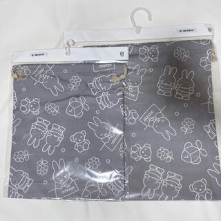 しまむら - ミッフィー 巾着 2サイズセット グレー サイズ違い