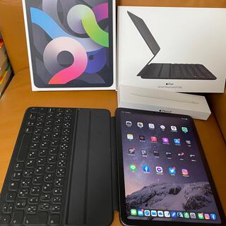 iPad - 美品 Care+付き/iPad Air4 セルラー 256GB スペースグレー他