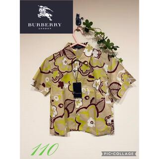 バーバリー(BURBERRY)のバーバリーロンドン 花柄 アロハシャツ 110(Tシャツ/カットソー)