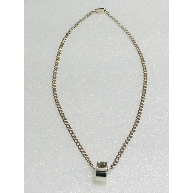 Gucci(グッチ)のGUCCI グッチ 正規品 G リング シルバー ネックレス 中古 美品 メンズのアクセサリー(ネックレス)の商品写真