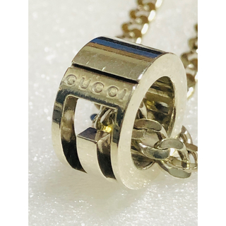 Gucci - GUCCI グッチ 正規品 G リング シルバー ネックレス 中古 美品