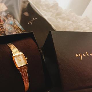 【美品】agate 腕時計