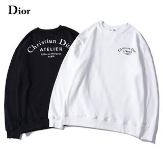 Dior - 2枚1000円引 DIOR ディオール ロゴ付き 英字 スウェット 新品 黒白