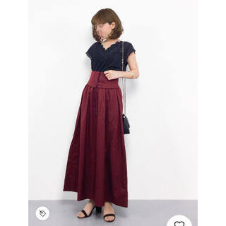 JEANASIS - ハイウエストレースUPロングスカート