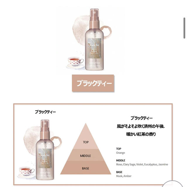 もんちゃん様 Innisfree ブラックティー  コスメ/美容の香水(香水(女性用))の商品写真