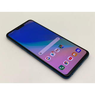 エルジーエレクトロニクス(LG Electronics)の[1076] LG V40 ThinQ 128GB ブルー SIMフリー(スマートフォン本体)