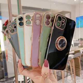 高級感♪ リング付き ? iPhone アイフォン ケース 全7色(iPhoneケース)