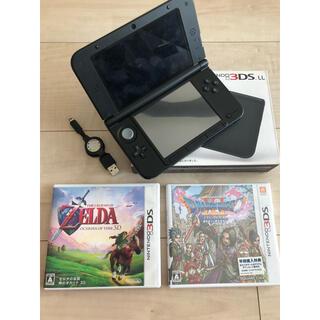ニンテンドー3DS - nintendo 3DS LL カセット3種・充電コードつき