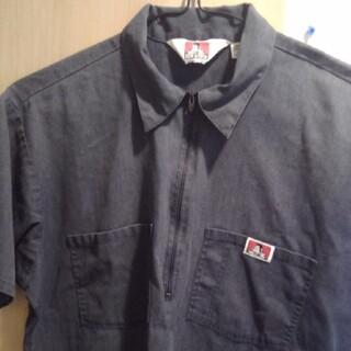 """ベンデイビス(BEN DAVIS)の90's BEN DAVIS ハーフジップワークシャツ """"USA製 (シャツ)"""