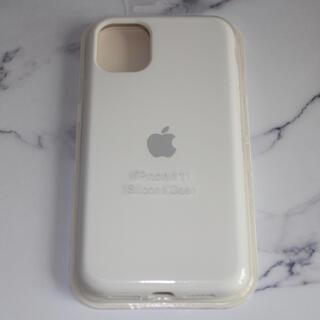 iPhone11 シリコン iPhoneケース スマホケース ホワイト(iPhoneケース)