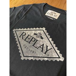 Replay - REPLAY  S  オーガニックコットン プリント Tシャツ リプレイ
