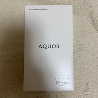 アクオス(AQUOS)のAQUOS sense4 basic black(スマートフォン本体)