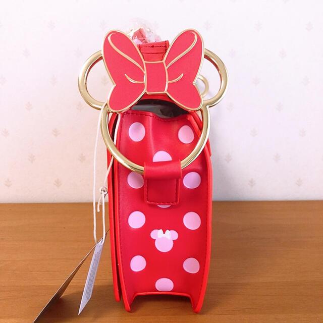 Disney(ディズニー)のラウンジフライ ディズニー ミニー ショルダーバッグ ドット ピンク レディースのバッグ(リュック/バックパック)の商品写真