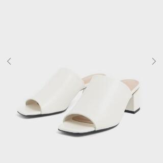チャールズアンドキース(Charles and Keith)のBlock Heel Slide Sandals(サンダル)