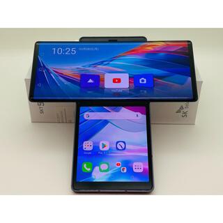 エルジーエレクトロニクス(LG Electronics)の[1081] LG Wing 128GB グレイ SIMフリー ダブルスクリーン(スマートフォン本体)