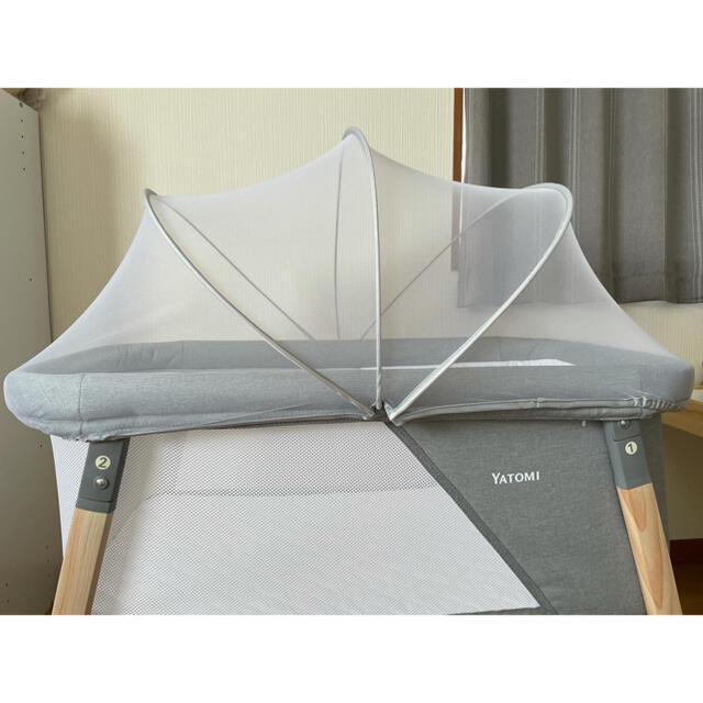 ヤトミ リビングベッド 2in1 ベビーベッド ミニベッド キッズ/ベビー/マタニティの寝具/家具(ベビーベッド)の商品写真